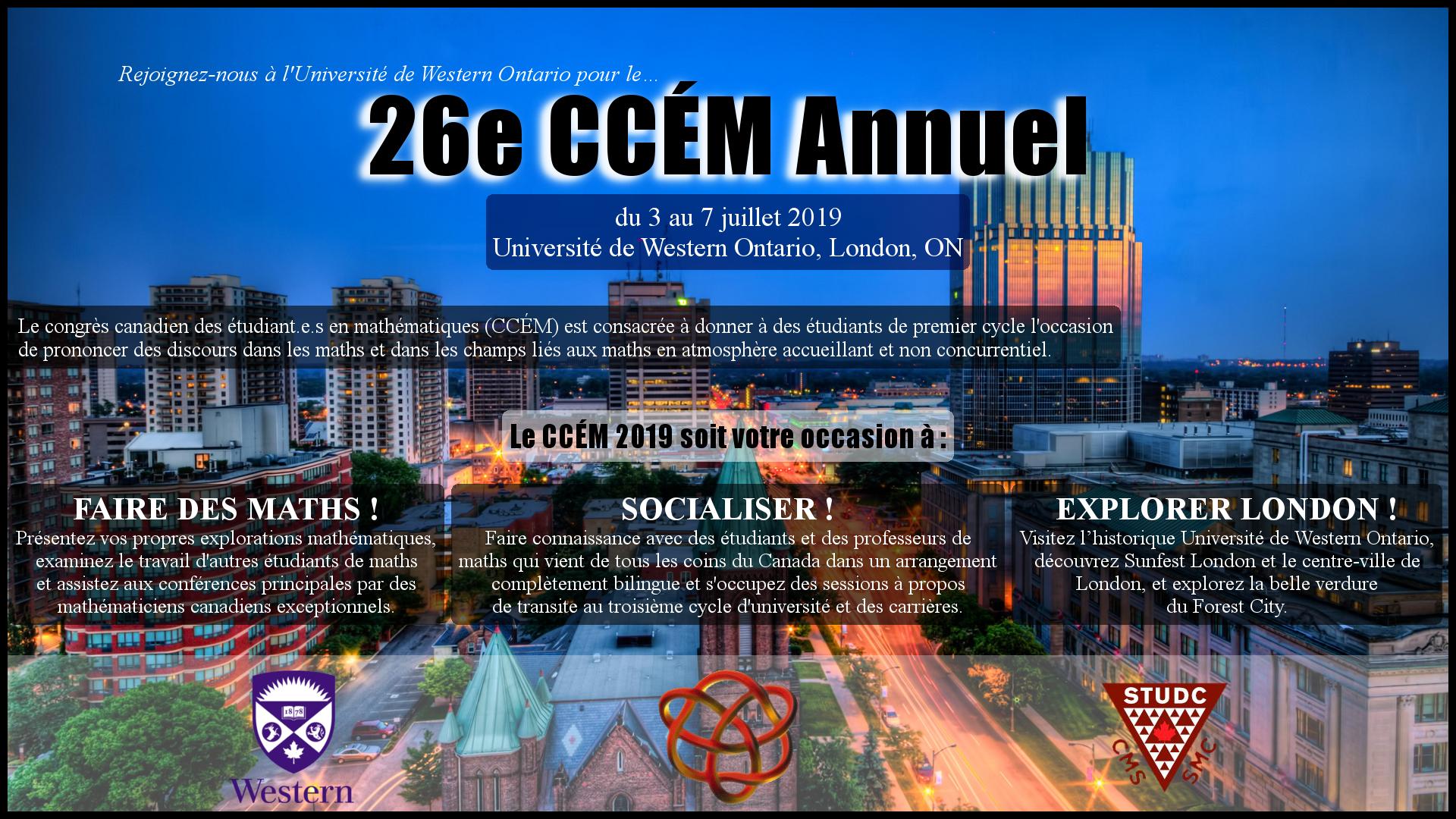 Candidatures pour l'organisation du CCÉM 2019