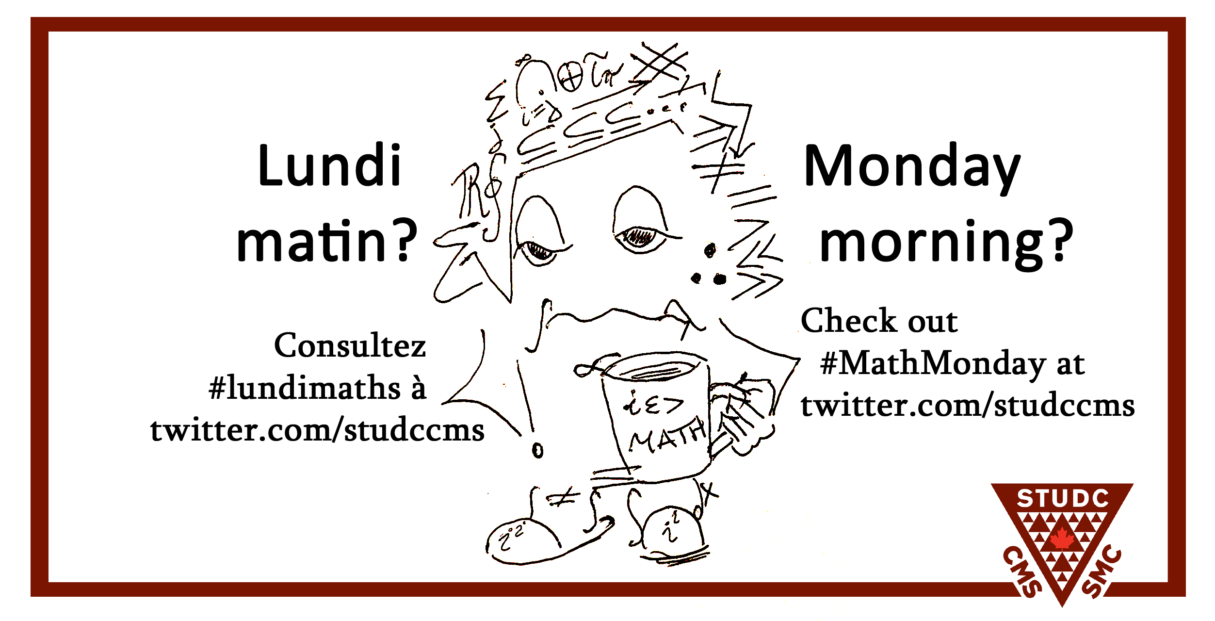 hand-drawn ad for MathMondays on twitter