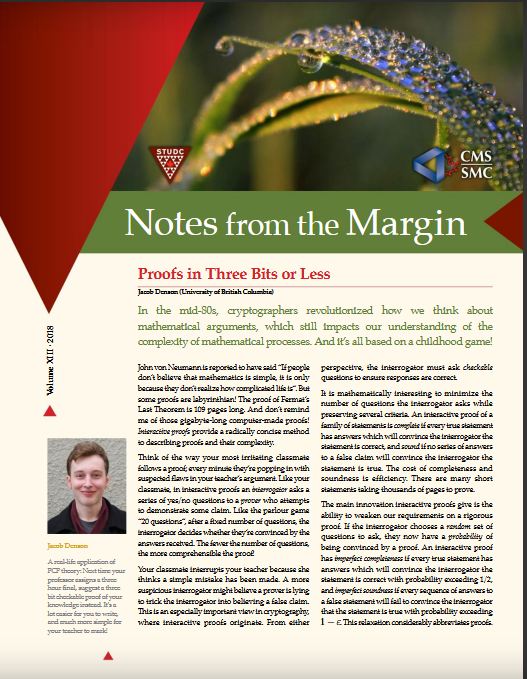 Notes from the Margin XIII